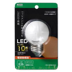 G50ボール形LED E26 L色 WH 10W形相当 LDG1LG50WH