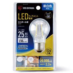 LEDフィラメント電球 ミニボール球タイプ LDG2N-G-FC [E26 /昼白色]