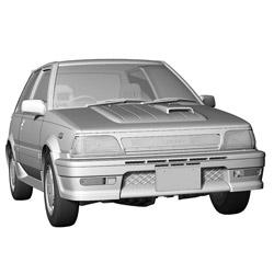 1/24 トヨタ スターレット EP71 ターボS(3ドア)後期型 プラモデル