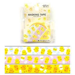 マスキングテープ 1.5cm×6m ひよこ MKT-96