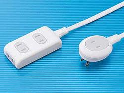 【クリックで詳細表示】TAP-B9-3(プラス1個口便利タップ/3m/15A・125V・合計1500Wまで/2P・絶縁キャップ付L型プラグ/3+1個口)