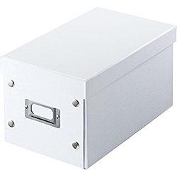FCD-MT3W 組み立て式CD BOX (CD:25枚/DVD:10枚/Blu-ray:10枚収納)ホワイト