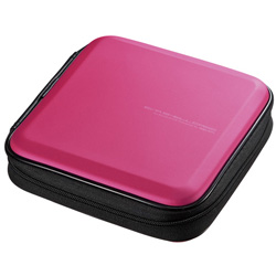FCD-WLBD24P ブルーレイディスク対応セミハードケース(24枚収納/ピンク)