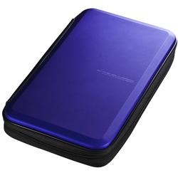 FCD-WLBD56BL ブルーレイディスク対応セミハードケース(56枚収納/ブルー)