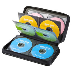 FCD-WL96BK DVD・CDセミハードケース 96枚収納・ブラック