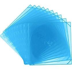 Blu-ray/DVD/CD対応トレータイプ収納ケース リング穴付 両面2枚収納×10