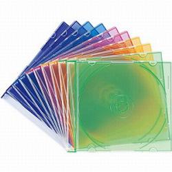 CD/DVD/Blu-ray対応収納ケース (1枚収納×10セット・5色ミックス) FCD-PU10MX