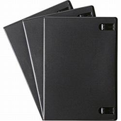 CD/DVD/Blu-ray対応収納トールケース (1枚収納×3セット・ブラック) DVD-TN1-03BK