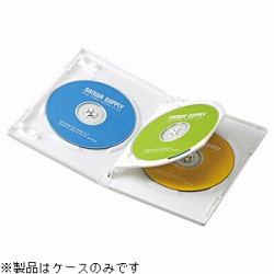 CD/DVD/Blu-ray対応収納トールケース (3枚収納×3セット・ホワイト) DVD-TN3-03W