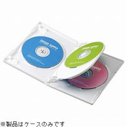 CD/DVD/Blu-ray対応収納トールケース (4枚収納×3セット・ホワイト) DVD-TN4-03W