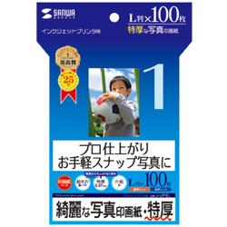 JP-EP6L(インクジェット写真印画紙/特厚/L判/100枚入り/染料・顔料対応/フォト光沢/片面印刷)