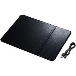 MPD-WLC11BK ワイヤレス充電機能付きマウスパッド[Qi規格対応]