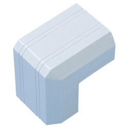ケーブルカバー 接続部品(出角・幅22mm用・ホワイト)