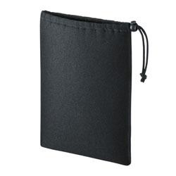 マルチクッションケース(巾着タイプ・ブラック) IN-C3K