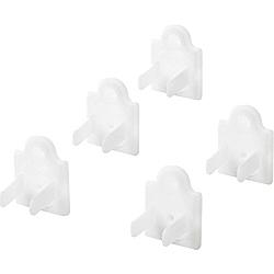 コンセントキャップ[2P&3P両用] コンセントマルチキャップ (5個入・ホワイト) TAP-CAPMULTW