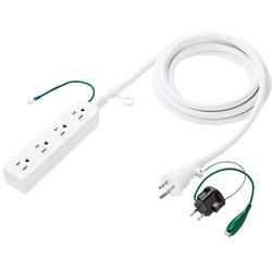 TAP-HP4-3W 高強度タップ(3P/4個口/3m/ホワイト)