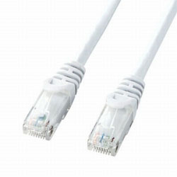 カテゴリー6対応 LANケーブル (ホワイト・0.5m) LA-Y6-005W