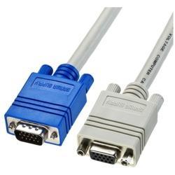1.5m[HD-D-sub15pin → HD-D-sub15pin] ディスプレイ延長ケーブル 複合同軸・アナログRGB KC-VEN15K