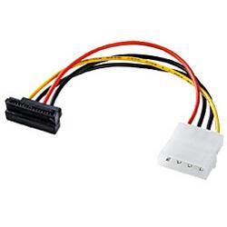 TKPWSATA5SL (シリアルATA用電源変換ケーブル 下L型コネクタ/12cm)