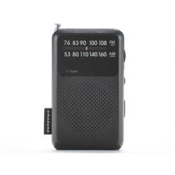 amadana(アマダナ) 【ワイドFM対応】FM/AM TAGlabel by amadana モバイルラジオ(ブラック)AT-OMR0011-BK【ビックカメラグループオリジナル】