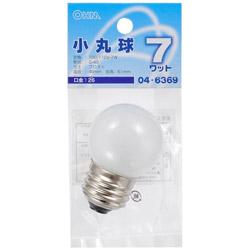 小丸球 (電球7W形・1個入・口金E26) LB-G4607-F
