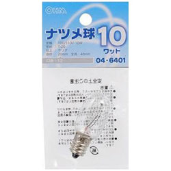 ナツメ球10W クリア LBT0210C