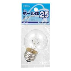 ミニボール球 (電球25W形・1個入・口金E26) LB-G5625-C