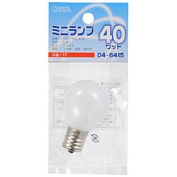 電球 ミニランプ LB-S3740-F フロスト [E17 /電球色 /1個 /一般電球形]