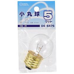 電球 ミニボール球 LB-G4605-C クリア [E26 /電球色 /1個 /ボール電球形]