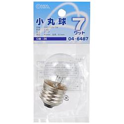 電球 小丸球 LB-G4607-C クリア [E26 /電球色 /1個 /ボール電球形]