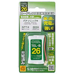 コードレス電話機用充電池 長持ちタイプ TEL-B26