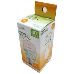 電球型蛍光灯「エコデンキュウ」(電球40形タイプ D形[スパイラル形] 1個入・電球色・口金E26) EFD10EL/8-SPN