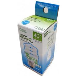 電球形蛍光灯 スパイラル形 ECOdeQ(エコデンキュウ) ホワイト EFD10ED/8-SPN [E26 /昼光色 /1個 /40W相当 /全方向タイプ]