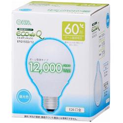 エコ電球G型60WタイプE26昼光色 EFG15ED12
