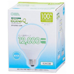 電球型蛍光灯 G型 100Wタイプ EFG25ED20N 昼光色