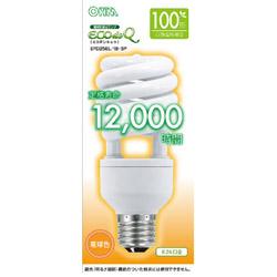 EFD25EL/18-SP 電球形蛍光灯 スパイラル ECOdeQ(エコデンキュウ) ホワイト [E26 /電球色 /1個 /100W相当 /全方向タイプ]