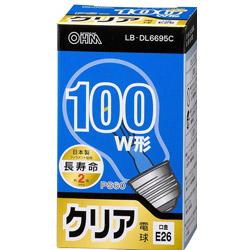 白熱電球 E26 100形相当 クリア 長寿命 LBDL6695C