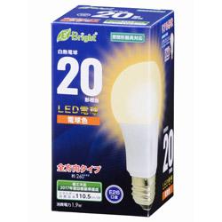 LED電球 (一般電球形・全光束210lm/電球色相当・口金E26) LDA2LGAG22