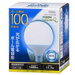 LED電球 (ボール電球形・全光束1468lm/昼光色相当・口金E26) LDG11DG AS9
