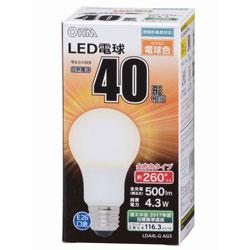 LED電球 (一般電球形・全光束500lm/電球色相当・口金E26) LDA4LGAG5
