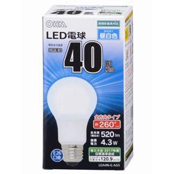 LED電球 (一般電球形・全光束520lm/昼白色相当・口金E26) LDA4NGAG5