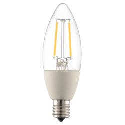 LED電球 フィラメント シャンデリア形 E17 25形相当 調光器対応 LDC2L-E17/DC6 電球色