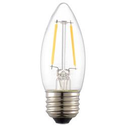 LED電球 フィラメント シャンデリア形 E26 25形相当 調光器対応 LDC2L/DC6