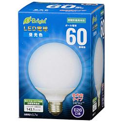 LEDボール球 LDG6D-G AG23 ホワイト [E26 /昼光色 /1個 /60W相当 /ボール電球形 /全方向タイプ]