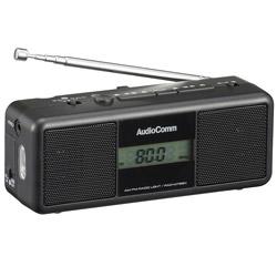 オーム電機 手回しラジオライト RAD-M799N ブラック [AM/FM /ワイドFM対応]