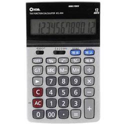 「2電源 ビジネスL電卓(税計算機能付)」 (12桁) KCL-004