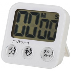 大画面デジタルタイマー COK-T130-W ホワイト