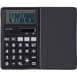 電卓 ソーラー 10桁 手帳サイズ (ブラック) KCL-120-K