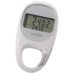 3Dセンサー歩数計 カラビナタイプ HB-K707-W ホワイト