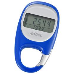 3Dセンサー歩数計 カラビナタイプ HB-K707-A ブルー